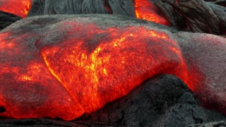 Inflating Pahoehoe Lava