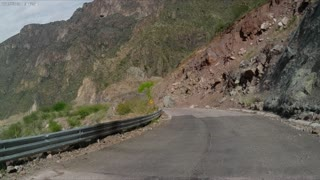 Mountain fell on road continuation.