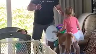 Dad, Toddler, Baby & Dog Experience Day 4 Of Their Quarantine