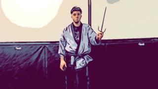 Basic martial arts sai warm ups