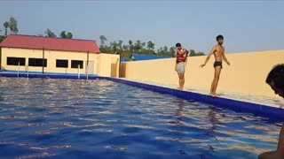 swimming pool stunts