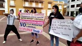 Protesta en la Alcaldía