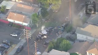 FireWorks - LAPD bomb squad planned detonation went very, VERY wrong