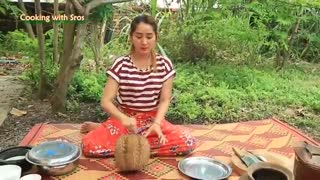 Durian Sticky Rice Dessert - Durian Sticky Rice Dessert Cooking - Cooking With Sros