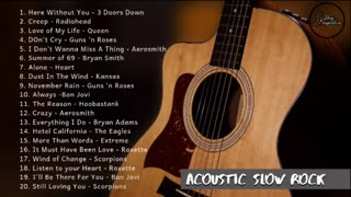 Best of Acoustic Slow Rock Acoustic Cover Compilation