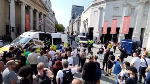 anti Coronavirus lockdown protest in central London 3