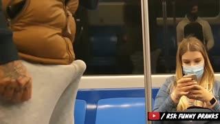 Funny prank video in train