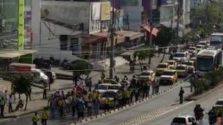 Protesta de taxistas en Cartagena