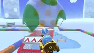 Mario Kart Tour - Eggshell Glider Gameplay (Cat Tour Tier Shop Reward)