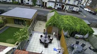 Neighbor Springs to Save Kiddo on Roof