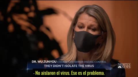 Wu Zunyou del Centro de Control de Enfermedades de China admite ante NBC que no AISLARON EL VIRUS