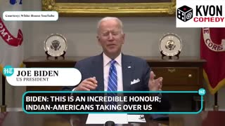 Biden believes Indians are Taking Over America!