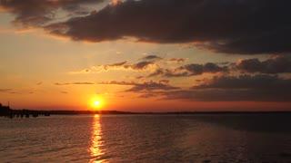 Wonderful view of sunset at beach