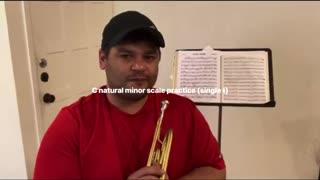 C natural minor practice (single t)