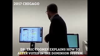 Dominion CEO Eric Coomer Explains how to change votes