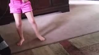 My little girl dancing funny and crazy