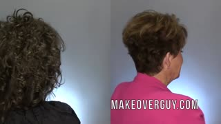 60 Year Old Cuts Off All Her Long Curly Hair: A MAKEOVERGUY® Makeover