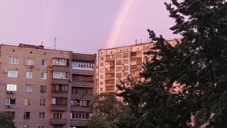Huge beautiful rainbow
