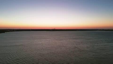 Dawn at Lake Overholser