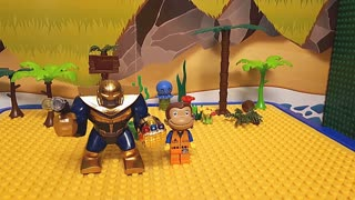 Thanos Peppa Pig Curious George Lego Animation for Kids