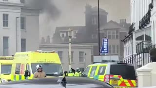 Massive fire at Claremont Hotel in Eastbourne, UK