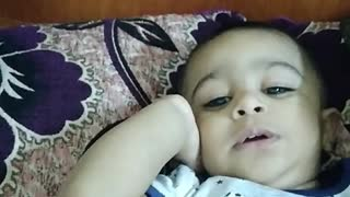 Sweet Baby 2 years Talking in very sweet style Missing his mother