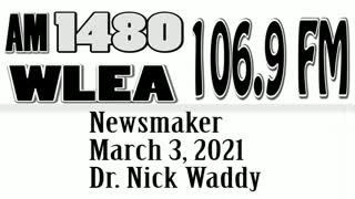 Wlea Newsmaker, March 3, 2021, Dr. Nick Waddy