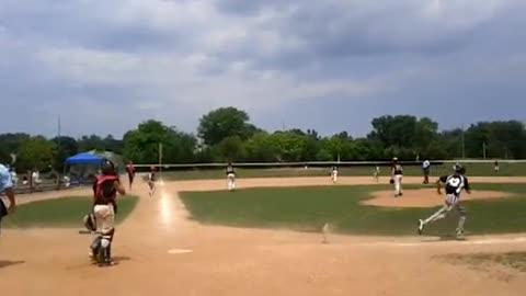 Getting 2 RBI's at Delaware Baseball Tournament