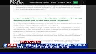 Effort to recall Calif. Gov. Newsom receives enough verifiable signatures to trigger election