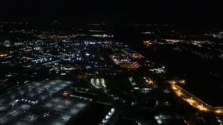 Night Time Landing at St. Louis Lambert International Airport