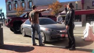 Restaurant Owner Blockades Health Inspector's Car