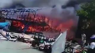 Incendio Playa Blanca
