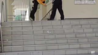 Security guard vs skateboarder