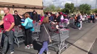 Here's what Friday morning at a neighborhood Costco looks like