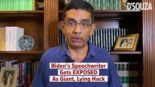 Biden's Speechwriter Gets EXPOSED As A Giant, Lying Hack