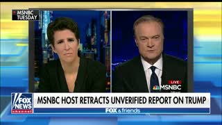 MSNBC host retracts an unverified Trump-Russia report