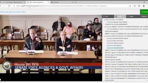 Arkansas Fort Smith Lawyer Joey McCutchen speaks against woke culture bill HB1916