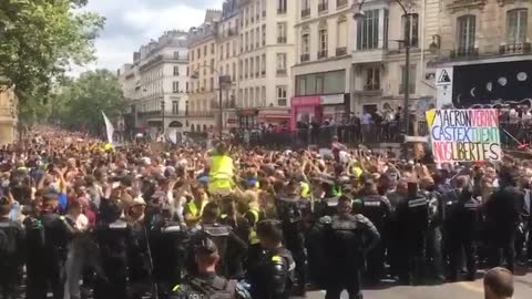 Paris, France protests against Covid vaccine passports - 24th July 2021