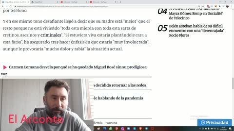 Miguel Bosé la lía en La Sexta