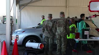 U.S. Army Soldiers shadow medical workers at COVID-19 Community Vaccination Center