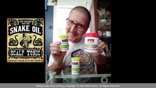Selling snake oil capsules