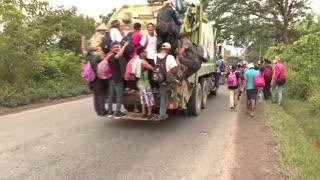 MASSIVE Migrant Caravan Heading Towards U.S. From Honduras Days Before Inauguration