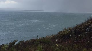 Fast Moving Waterspout Crosses Martha's Vineyard