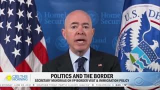 DHS Secretary Responds With Gibberish About VP Harris' Border Trip
