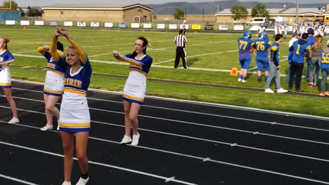 First year of cheer...and a great play!