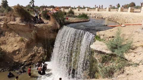 Egyptian Famous Waterfall Of Wadi El Rayan