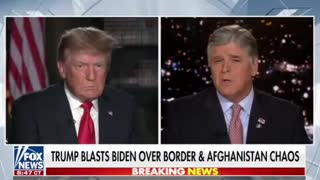 Sean Hannity FULL INTERVIEW with President Trump - 8/17/21
