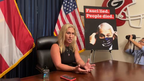 Rep. Marjorie Taylor Greene Holds Press Conference over Twitter Suspension and Fire Fauci