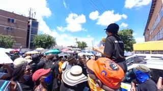Student protest at Pretoria West police station