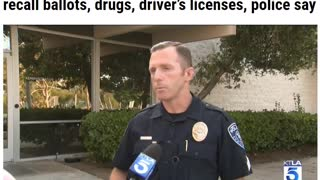 Passed-out felon found in vehicle with 300 Cali recall ballots